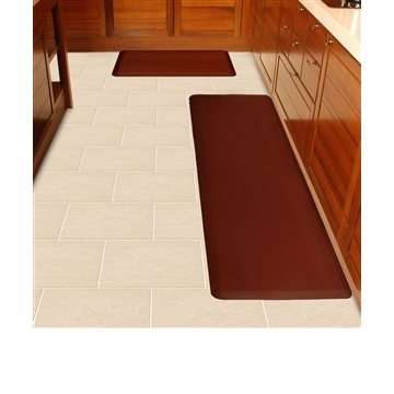 Wellnessmats Anti Fatigue Kitchen Floor Mat Burgundy 6x2
