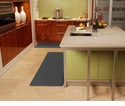 Wellnessmats Anti-Fatigue Kitchen Floor Mat-Grey-6x2