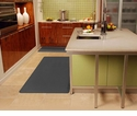Wellnessmats Anti-Fatigue Kitchen Floor Mat-Grey-6x3