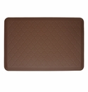 Wellnessmats Cushioned Kitchen Floor Mat - Brown - Trellis 3'x2'
