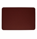 Wellnessmats Cushioned Kitchen Floor Mat - Burgundy - Trellis 3'x2'