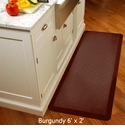 Wellnessmats Cushioned Kitchen Floor Mat - Burgundy - Trellis 6'x2'