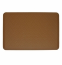 Wellnessmats Cushioned Kitchen Floor Mat - Tan - Trellis 3'x2'