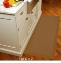 Wellnessmats Cushioned Kitchen Floor Mat - Tan - Trellis 6'x2'