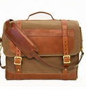 White Wing Canvas & Leather Out & Back Bag