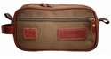 White Wing Canvas & Leather Shaving Kit Bag (Tan)
