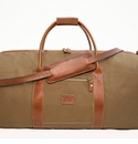 White Wing Large Canvas & Leather Duffle Bag