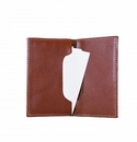 White Wing Leather Business Card Holder (Folding)