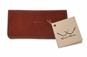 White Wing Leather Checkbook Cover