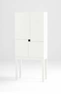 White Wood Bar Cabinet by Cyan Design