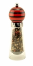 William Bounds Pep Art Red & Black Striped Comet Pepper Mill