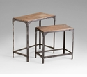 Winslow Iron and Wood Nesting Tables by Cyan Design