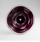 Wishing Well Large Purple Glass Plate by Cyan Design