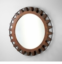 Wood Gear Mirror by Cyan Design