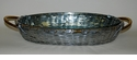 Woven Aluminum Oval Pyrex Baker with Brass Accents Home Decor