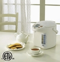 Zojirushi Panorama Windows Micom Electric Dispensing Pot 135 oz - White Gray
