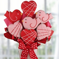 Be My Tweet Heart Valentine Cookie Bouquet