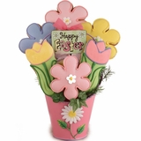 Bouquet of Easter Flowers Cookie Gift