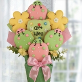 Caught the Bug Get Well Cookie Bouquet