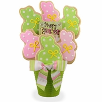 Easter Bunny Cookie Bouquet