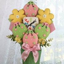 Lady Bug Congrats Cookie Bouquet