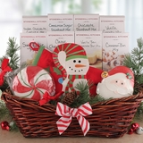 Santa Sweets and Treats Christmas Gift Basket