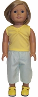 18 Inch Doll Clothes Pants and Singlet Outfit