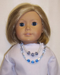 A Kit To MakeTwo Beautiful Blue Doll Necklaces