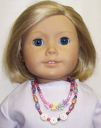 A Kit To MakeTwo Beautiful Colorful Doll Necklaces