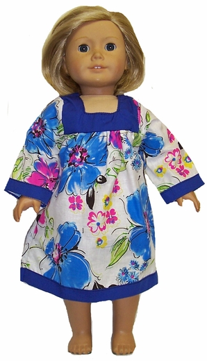 A Muumuu Style Nightgown for American Girl Dolls