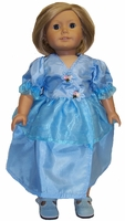 American Girl Doll Blue Chiffon Party Dress