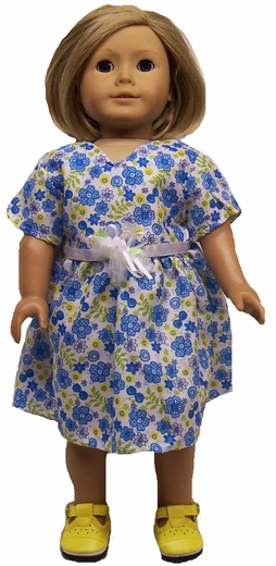 American Girl Doll Blue Party Dress Size 4