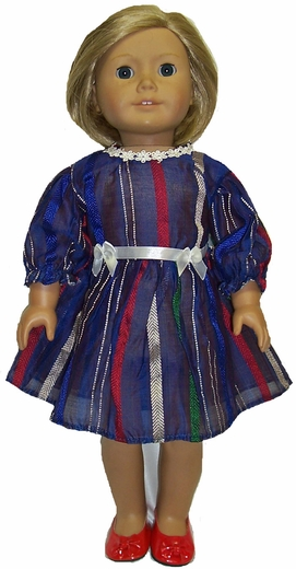 American Girl Doll Blue Stripe Dress