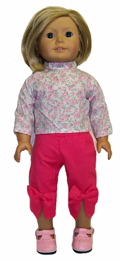 American Girl Doll Capri Pants and Blouse