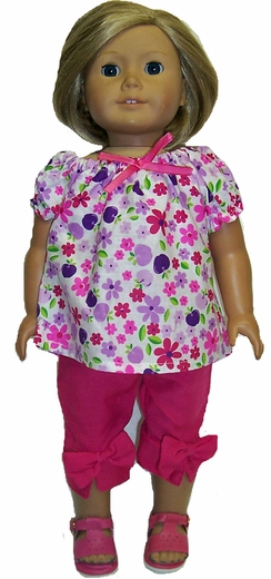 American Girl Doll Capri Pants & Blouse