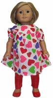 American Girl Doll Dress With Leggings