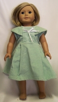 American Girl Doll Green Corduroy Jumper