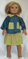 American Girl Doll Green Suit