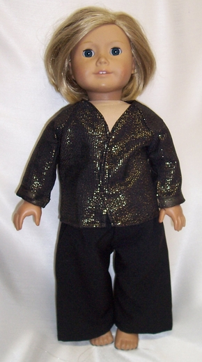 American Girl Doll Metallic Evening Suit