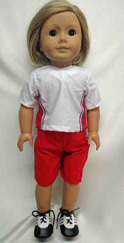 American Girl Doll Playing Soccer Set