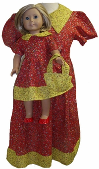 Matching Girl And Doll Clothes Red Dress Size 4