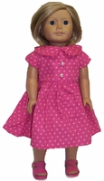 American Girl Doll Rose Dot Dress