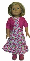 American Girl Doll Rose Fiesta Party Dress