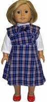 American Girl Doll Shcool Dress and T Shirt