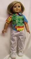 American Girl Doll Shirt & White Pants