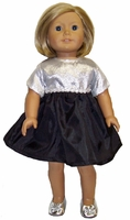 American Girl Doll Silver Party Dress