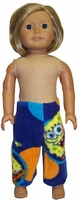 American Girl Doll Spongebob Fleece Pants