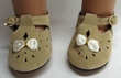 American Girl Doll Tan Seude Shoes