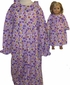 Matching Girl & Doll Purple Nightgown Size 7