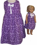 Size 3 Matching Girl Doll Dress